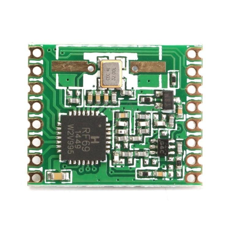 1 piezas RFM69HW 915 Mhz + 20dBm módulo transceptor inalámbrico (RFM69HW-915S2) para control remoto/.