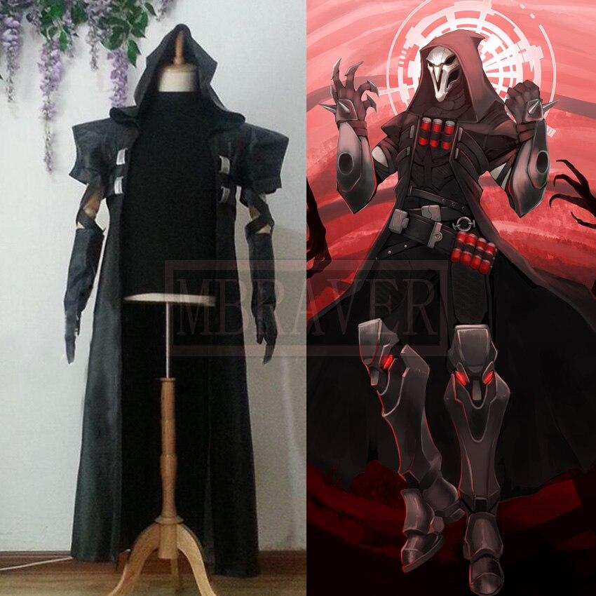 Disfraz DE Juegos populares Reaper, disfraz DE Cosplay DE Gabriel DE Reyes, DE cualquier tamaño, hecho a mano para Halloween