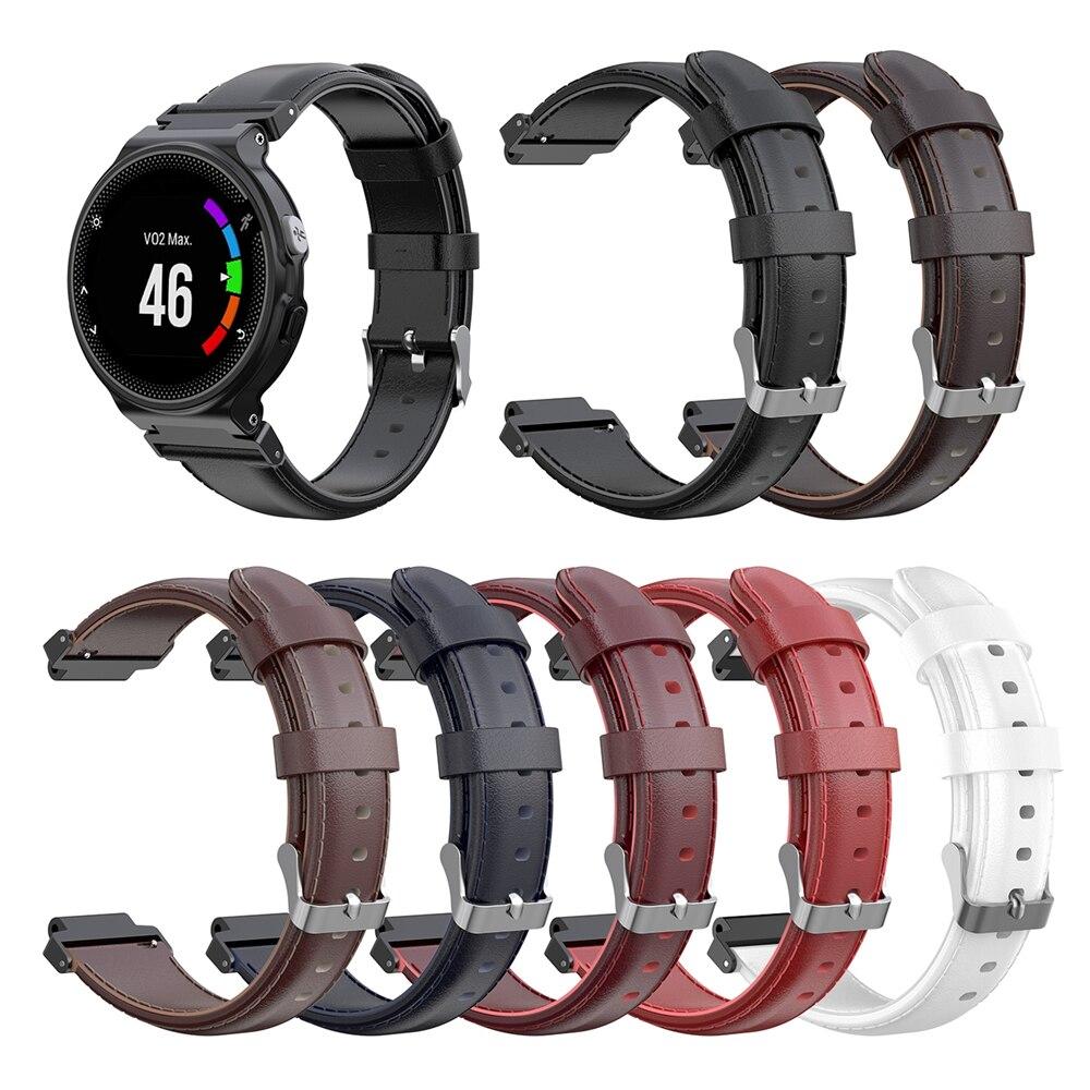 Pulseira de Couro genuíno Strap Para Garmin Forerunner 220 230 235 620 735 S20 S5 S6 Relógio Inteligente Pulseira Substituição pulseira