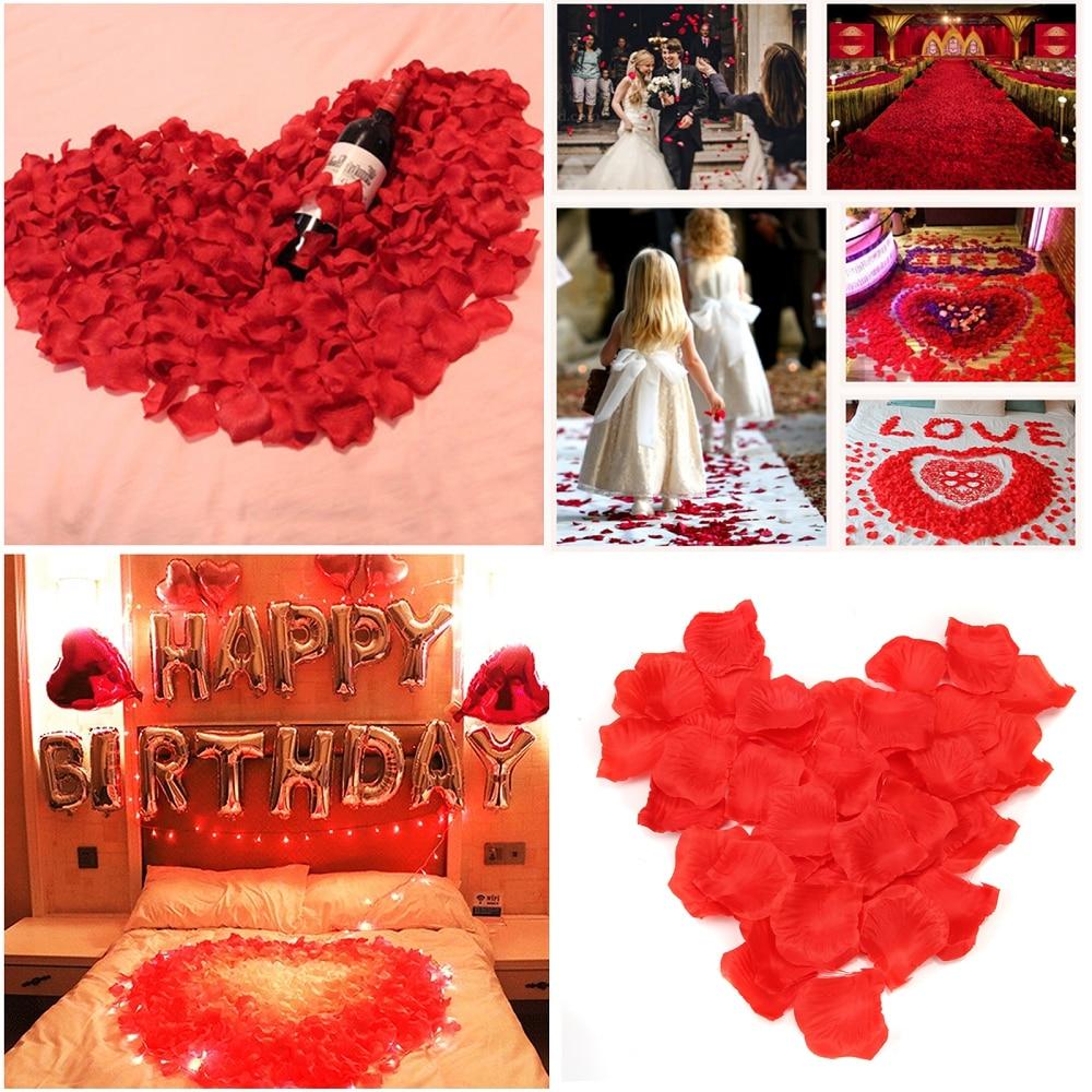500g/5000 piezas de seda como pétalos de flores artificiales confeti Girl Toss pétalo Strewing flores para la decoración del evento del banquete de boda