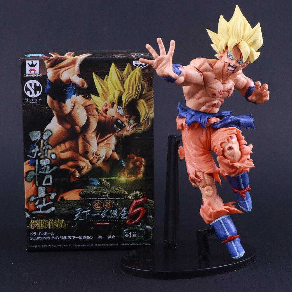 Banpresto Craneking esculturas Anime Japonés Dragon Ball Z goku Figura de Acción de Goku Budokai Tenkaichi 5 Coliseo
