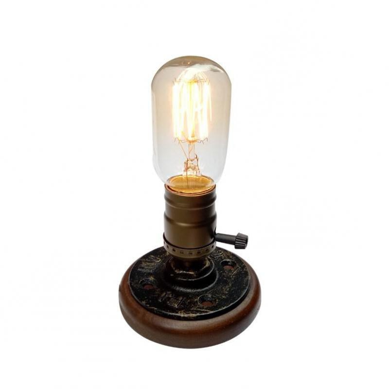 Wood Table Lamps Retro E27 Table Light For Bedroom Lamparas De Mesa Led Desk Lamp Reading Lamp 110v-220v Desk Lamps