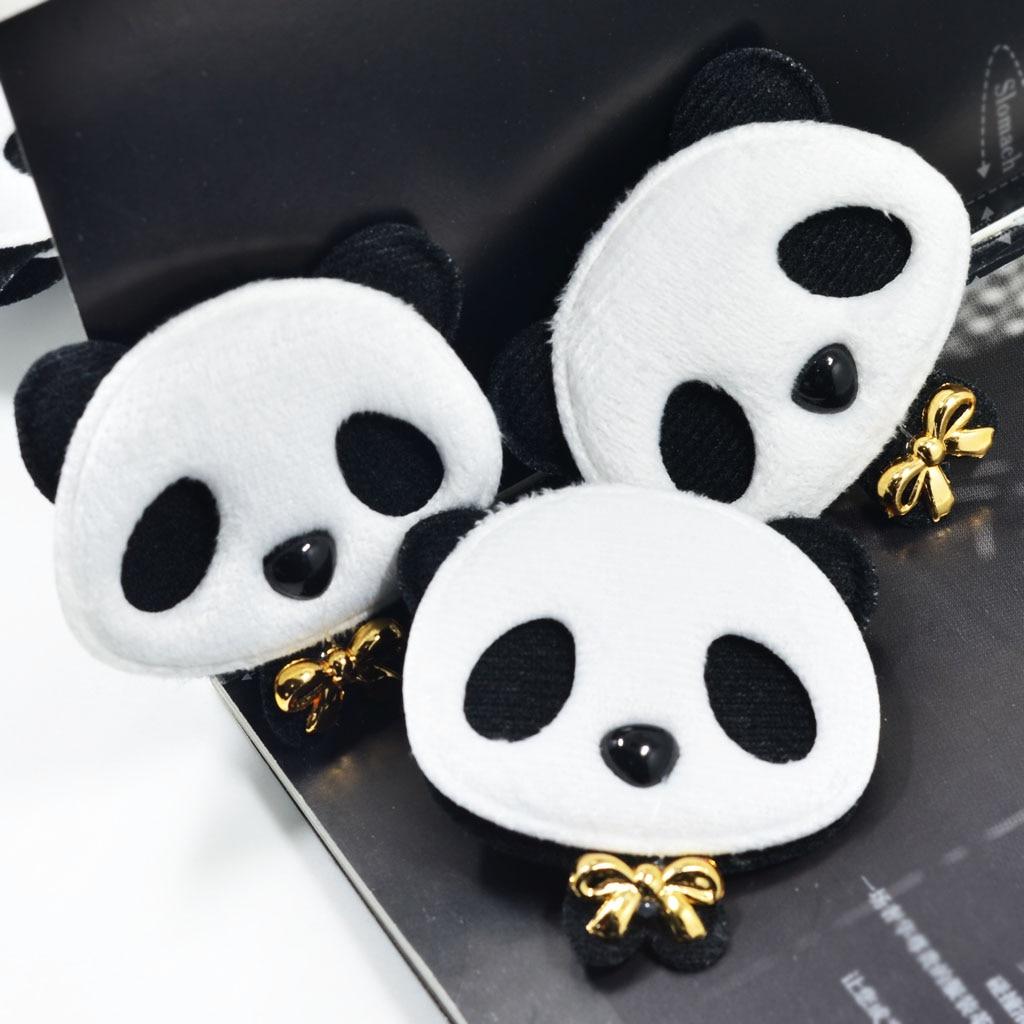 10x Handmade Cotton Cloth Panda Applique Cute Felt Patches DIY Hair Bow Clips Accessories Sewing Clothes Bag Shoes Decoration