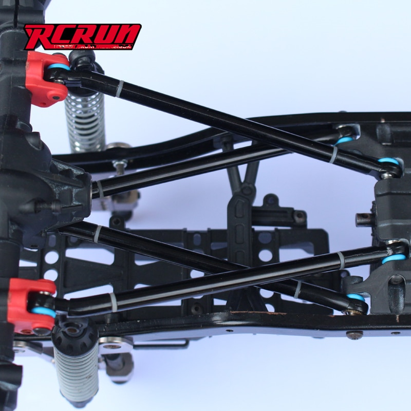 Axial scx10 ii frame upgrade parts Four-link w/ steering lever sets for 1/10 scale rc crawler scx10-2 90046/47 313mm wheelbase enlarge