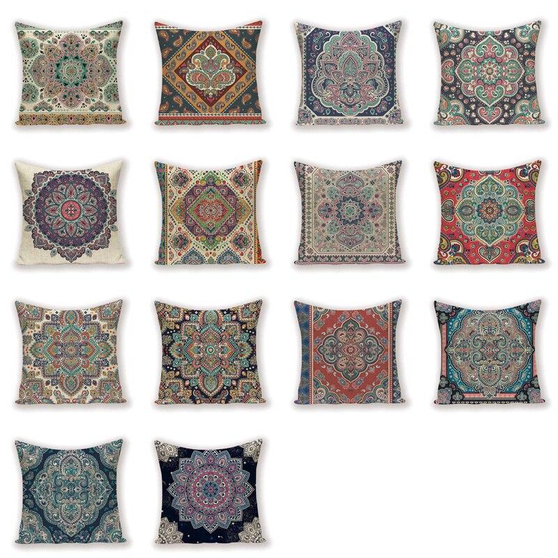 Vintage Decor Throw Pillow Case Shabby Chic Farm fundas decorativas para cojines de lino almohada 45*45 fundas de almohada bohemias