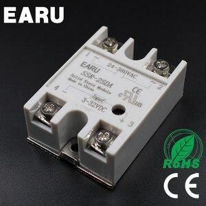 SSR-25DA Однофазное твердотельное реле SSR 25DA 25A 3-32 В постоянного тока до 24-380 В переменного тока для ПИД-регулятора температуры трансформатор нап...