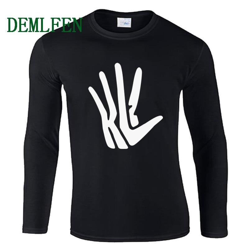 Nueva Kawaii Kawhi Leonard KL2 mano logotipo garra camiseta de apodo hombre de algodón de manga larga hombres camisetas San Antonio T camisa camisetas