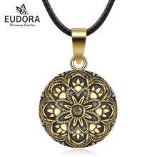 Ожерелье с подвеской Eudora, медный, бронзовый цвет, 20 мм