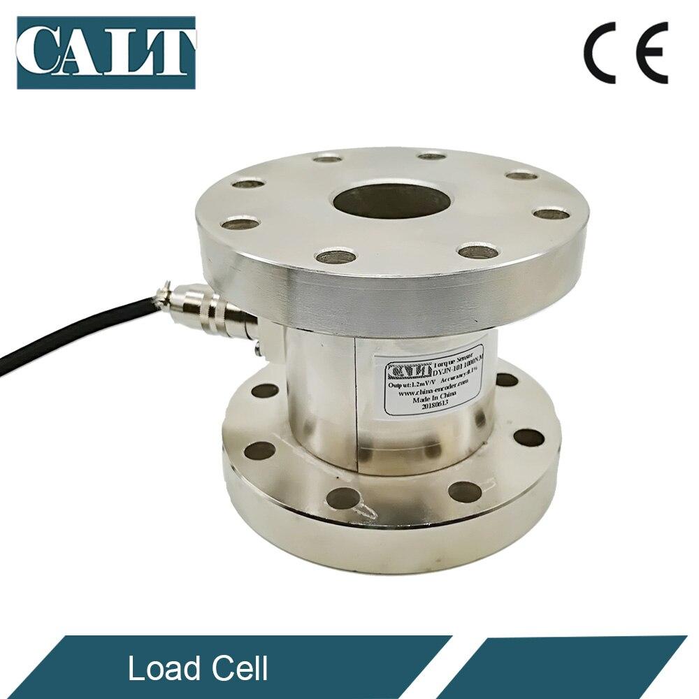 CALT Tipo de reborde estático giratorio Torsional Sensor de torsión DYJN-101 probador de torsión de célula de carga 0-200N.m