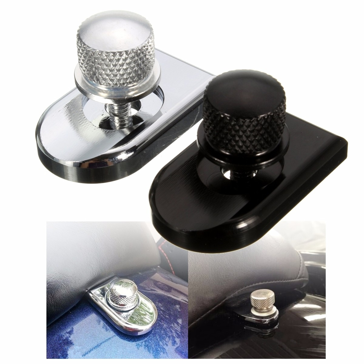1/4-20 Motorcycle Seat Bolt Tab Screw Mount Knob Cover for Harley Sportster Dyna Fatboy Road King Softail