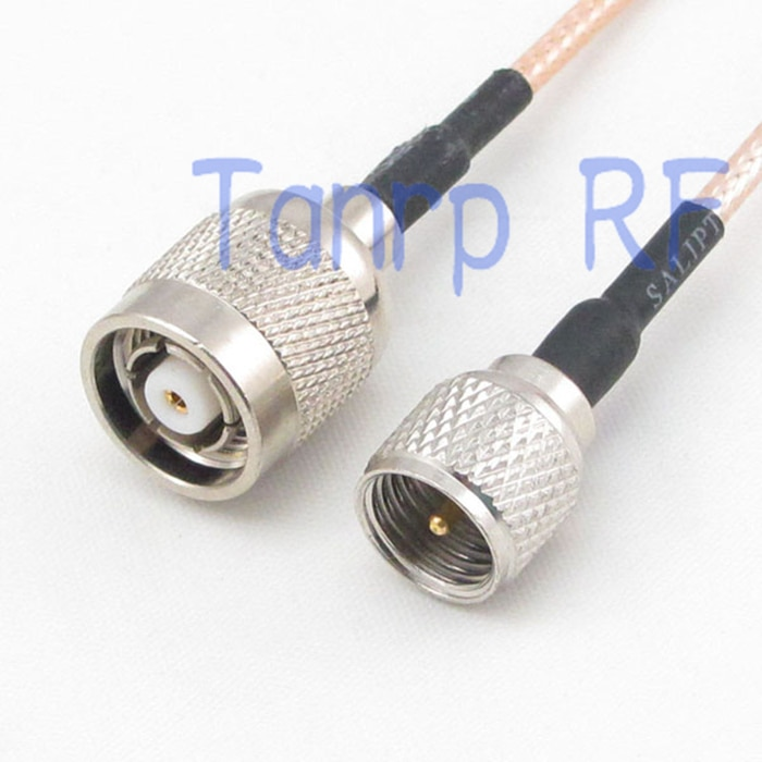 10 قطعة 15 سنتيمتر ضفيرة محوري الطائر كابل RG316 تمديد الحبل 6 بوصة البسيطة UHF ذكر التوصيل إلى RP TNC الذكور RF محول موصل