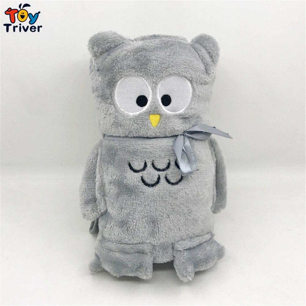 Милая Серая Сова одеяло Кукла Плюшевая Игрушка детский душ дети мальчик девочка подарок офис ворс Кепка ковер
