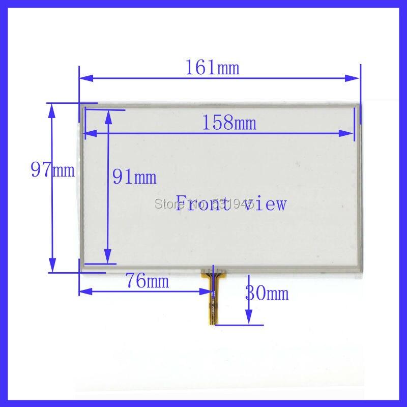ZhiYuSun 161mm * 97mm navegación 4-soldadura de alambre pantalla táctil resistiva 161X97mm adecuado para todos los dispositivos GPS de 7 pulgadas compatibles