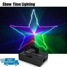 Livraison rapide DJ Laser lumière de scène polychrome 96 modèles rvb projecteur effet de scène éclairage pour Disco fête de noël 1 tête laser