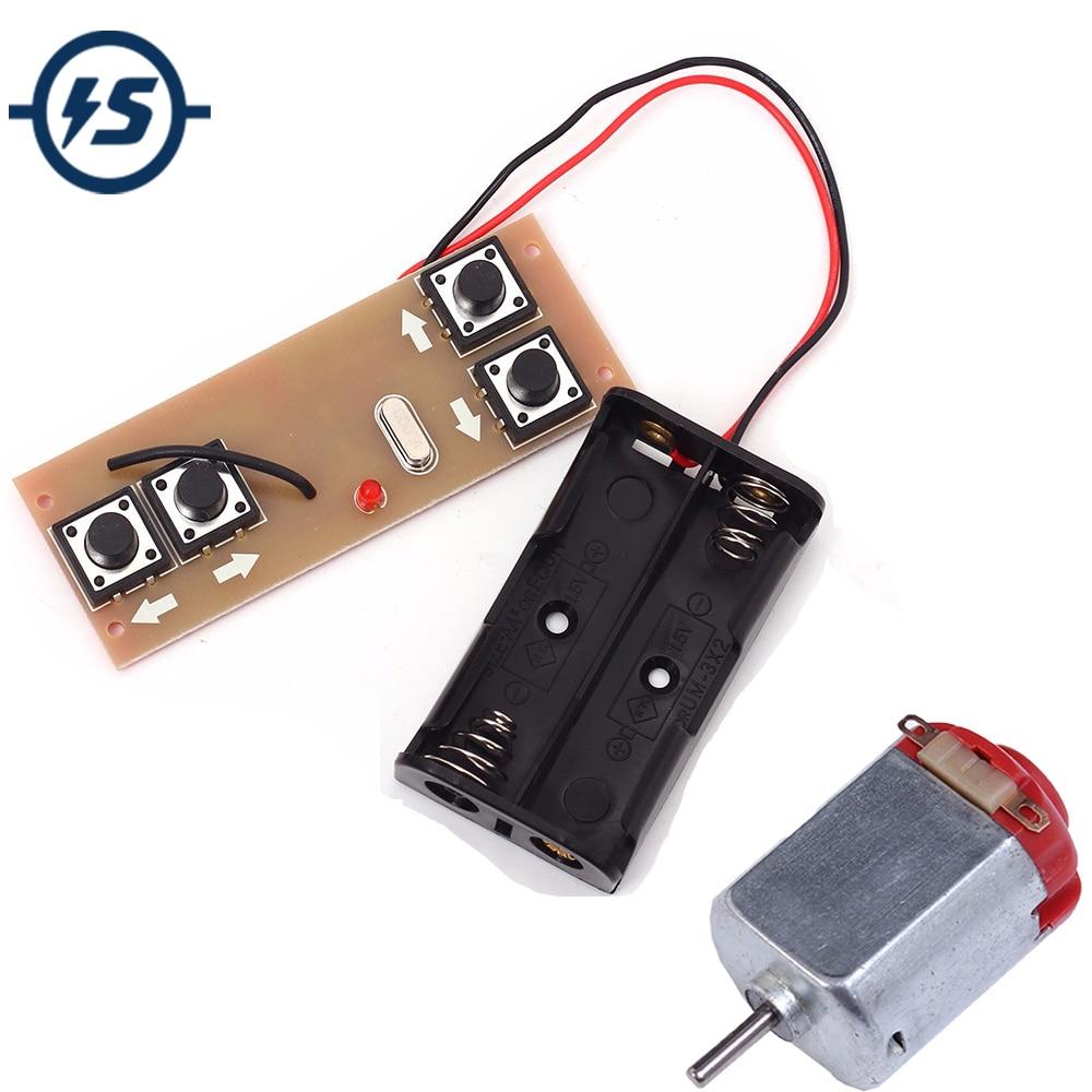 4-Canal 2,4G inalámbrico transmisor + receptor Junta módulo 10 Uds 130 Motor DC Motor 3V 16500RPM para DIY coche de Control remoto