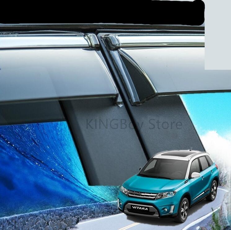 Ventana de plástico de alta calidad, lluvia o brillo, lluvia, ceja, estilo de coche 2016-2018 para Suzuki Vitara