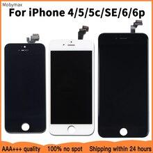 Wymiana ekranu LCD dla iPhone 6 SE 100% nie martwy piksel wyświetlacz LCD Digitizer zgromadzenie dla iPhone 5 5c 6plus 4 dobra gwarancja