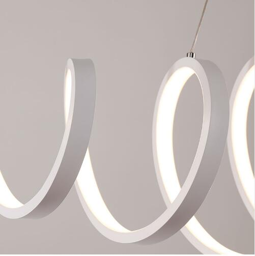 AC85-260V Modern led chandelier for dining room bar kitchen aluminum acrylic white hanging pendant chandelier lamp  - buy with discount