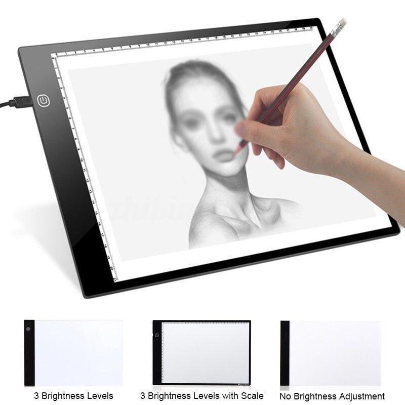 Ultra-dünne LED Licht Pad Box Malerei Tracing Panel Kopie Bord Stufenlose Für Cartoon Tattoo Tracing Zeichnung Diamant Malerei