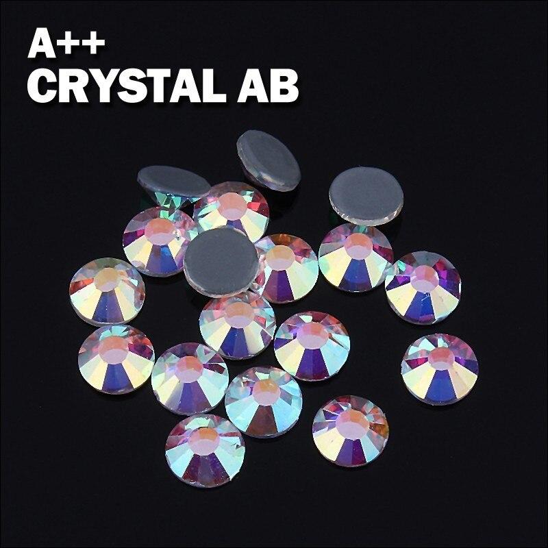 Alta qualidade hot fix solto plano voltar cristal ss16 ab cores 100 bruto cada lote para japonês headband frete grátis!!