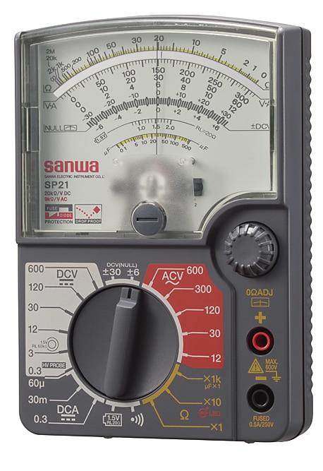 Multímetro analógico SANWA SP21/medidor anticaídas