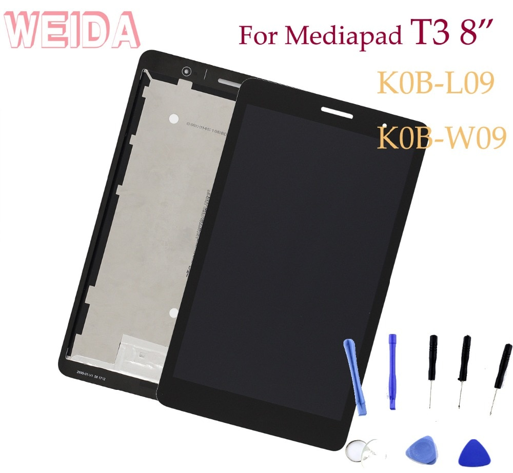 "WEIDA LCD reemplazo 8 ""para Huawei MediaPad T3 8,0 WIFI pantalla LCD de montaje de pantalla táctil KOB-L09 KOB-W09"