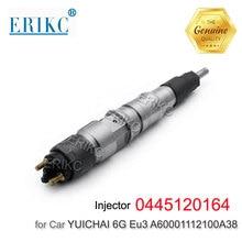 ERIKC 0 445 120 164 piezas de repuesto para motor de coche inyección de Common Rail 0445120164 inyector de combustible Assy Inyectores para Yuchai 6G Eu3