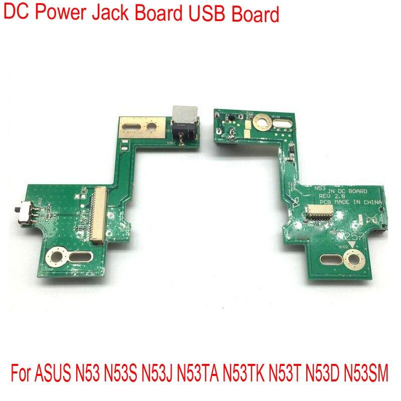 Reemplazo de Jack de alimentación DC interruptor de carga USB de placa para ASUS N53 N53S N53J N53TA N53TK N53T N53D N53SM N53DA N53JF n53JN N53JG