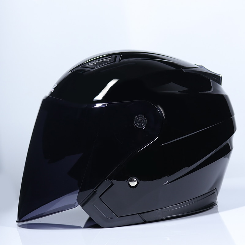 Marka Jiekai kask motocyklowy cztery pory roku unisex skuter elektryczny motos kask półotwarty podwójny wizjer