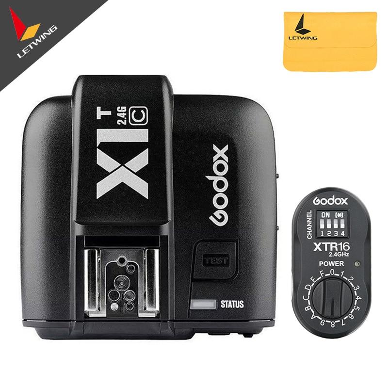 Godox XTR-16 inalámbrico 2,4G Control de potencia Flash RECEPTOR + X1T-C TTL transmisor inalámbrico para AD180 AD360