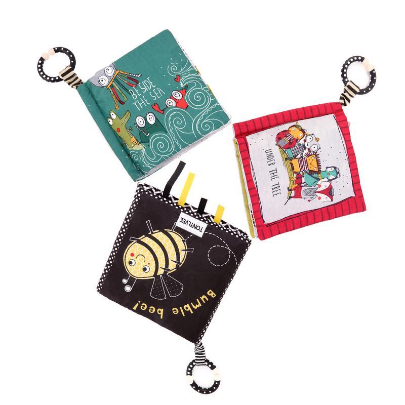 Animales lindos juguetes para bebés niños pequeños educación temprana tela suave libros educativos de aprendizaje libros de actividad que se despliegan