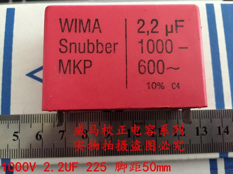 2019 venda quente 4 pces/10 pces alemanha wima snubber mkp 1000v 2.2uf 1000v 225 2u2 p 50mm capacitor de áudio frete grátis