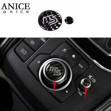 Pièces en fiber de carbone véritable   Garniture de boutons de volume pour Mazda6 ATENZA Mazda3 Axela//CX8/CX5/CX8/CX9