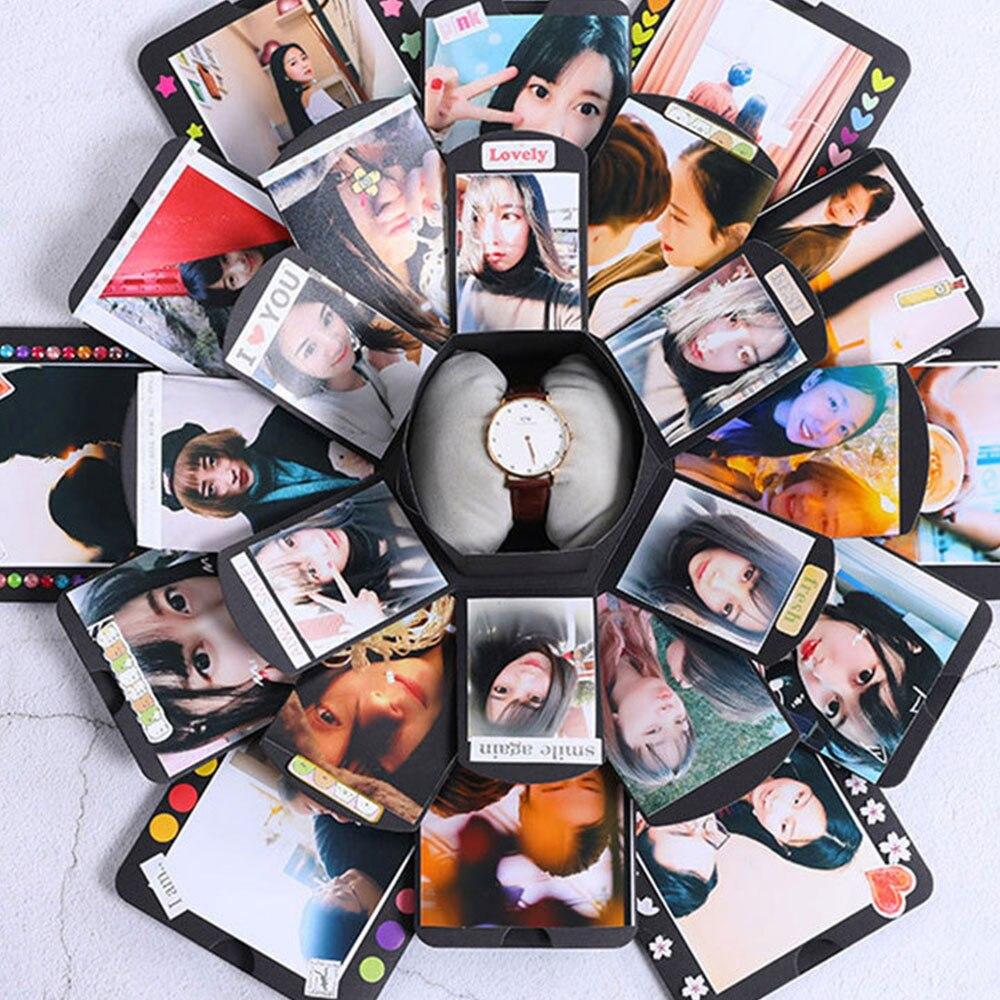 Bombe box hexagonal multilayer überraschung geständnis DIY album Sammelalbum Fotoalbum Jahrestag Geschenk Boxen