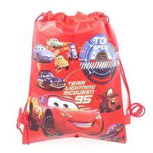 1pcs High Quality Disney Cars Kid Favor Cotton Drawstring Bags Travel Pouch Storage Clothes Shoes Ba