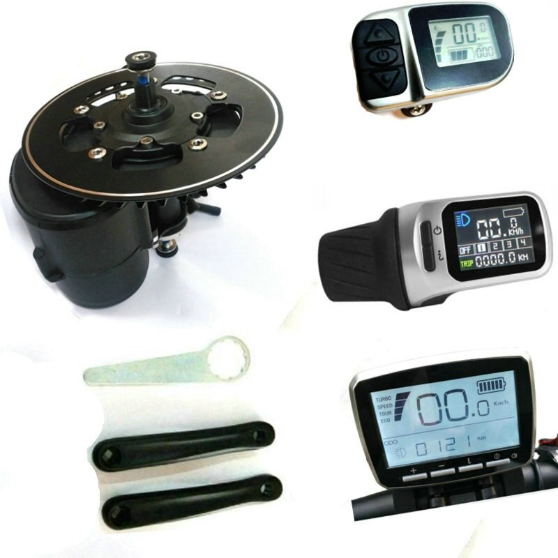 BB size 68mm/100mm/120mm Tongsheng TSDZ2 Mid Drive Central Motor Conversion ebike Kit,Torque Sensor 36V 48V 52V Kit Motor