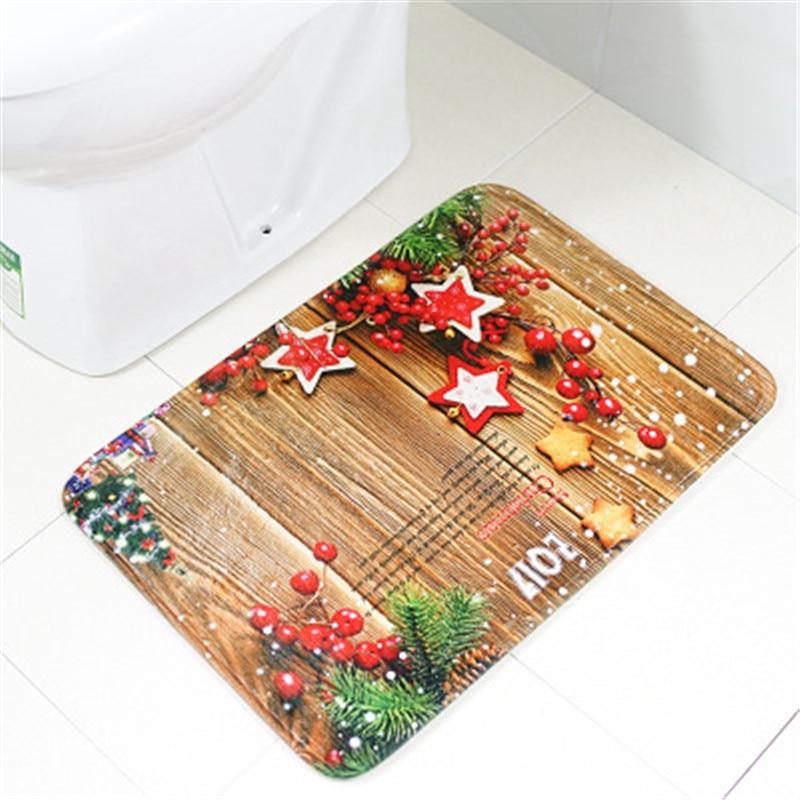 Противоскользящий коврик с рождественским дизайном Набор ковриков для ванной