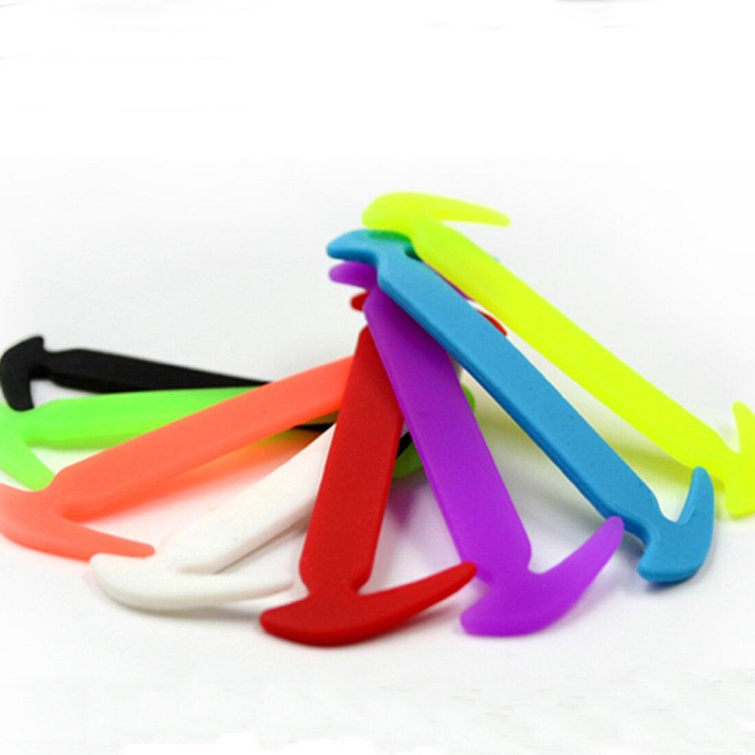 12Pcs Multicolor Easy No Tie Elastic Shoelaces 100% Silicone Trainers Shoe Laces Adult Kids Children Sport Outdoor Shoe Strings