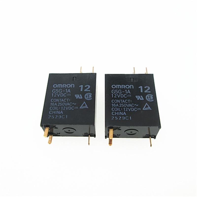 Nuevo 12V relé de G5G-1A-12VDC G5G1A G5G-1A 12VDC DC12V 12V 16A 250VAC 3PIN