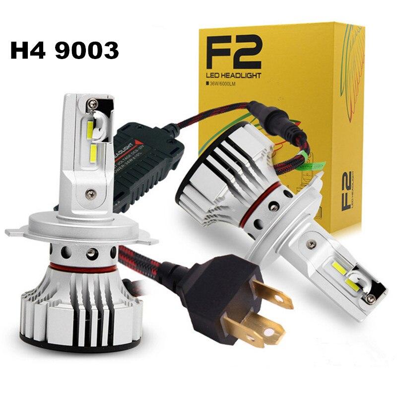 FSYLX nuevo F2 H4 H13 Kit de faros LED de coche 72W 12000LM blanco 9004 de 9007 hb5 HB1 h4 faros LED faro bombilla de luz antiniebla para bmw