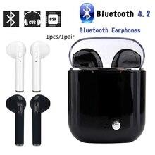 I7s sem fio bluetooth fones de ouvido fone de ouvido caixa carregamento i7s auriculares bluetooth inalambrico ecouteur sans fil bluetooth