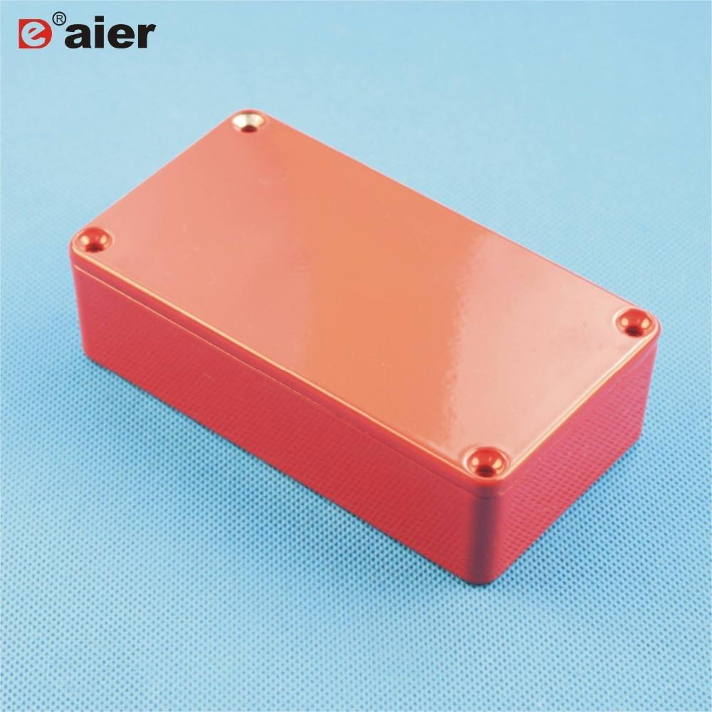 12 pces vermelho 1590b gabinete de pedal de guitarra de alumínio fundido