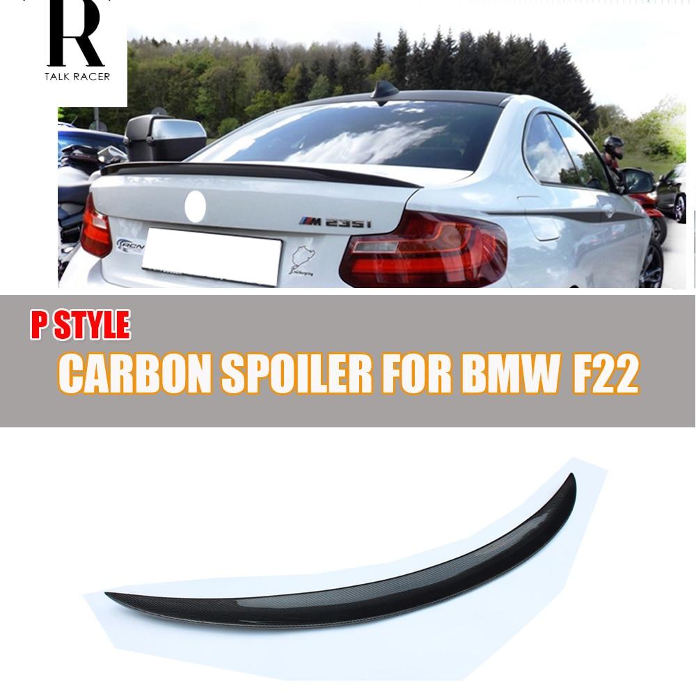 F22 F87 P Style Carbon Fiber Rear Wing Spoiler for BMW F22 220i 228i M235i F87 M2 2014 - 2019