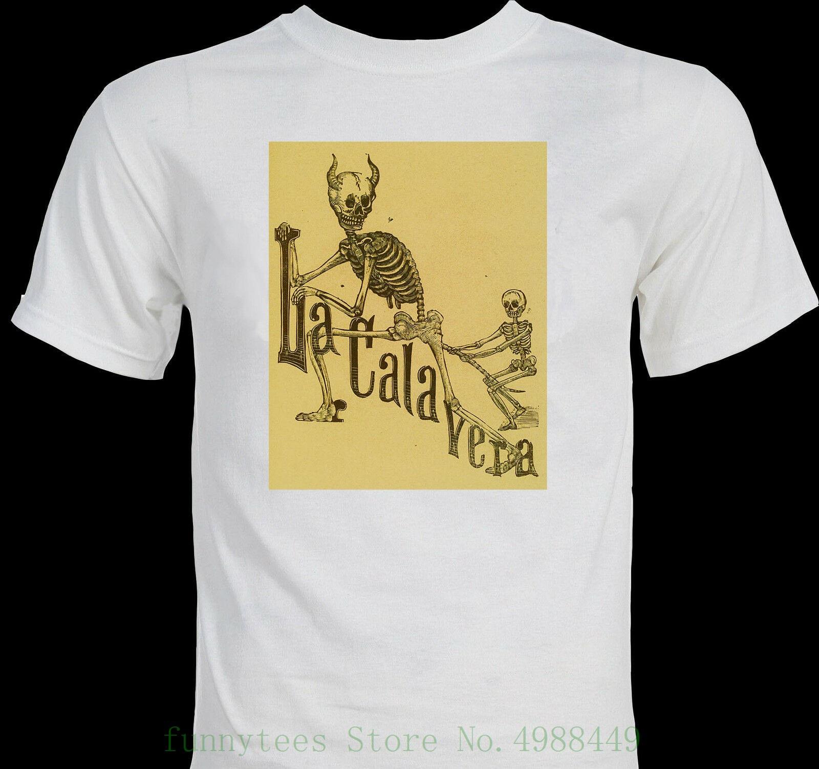 """Camiseta de verano de dibujo animado con diseño de Calavera """"La Calavera Catrina"""", esqueleto extraño, arte mexicano"""