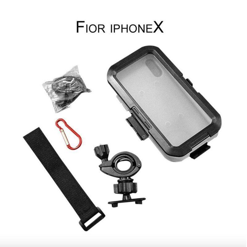 Waterproof Jacket Motorcycle Bicycle Holder Phone Shells Handlebar Mount Phone Case For iPhone X/XS