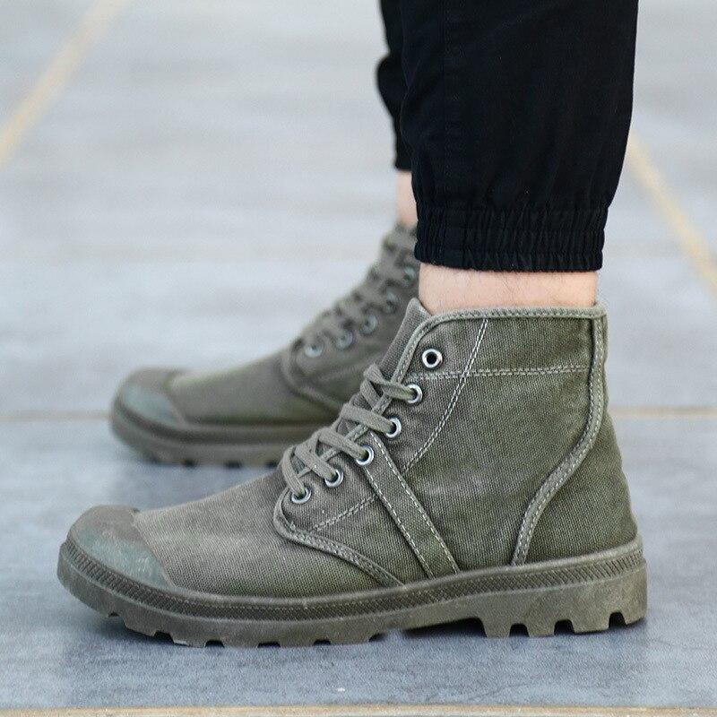 Botas de Lona Botas do Exército Botas Militares Homens Táticas Alto Superior Tênis Hombre Chaussure Homme