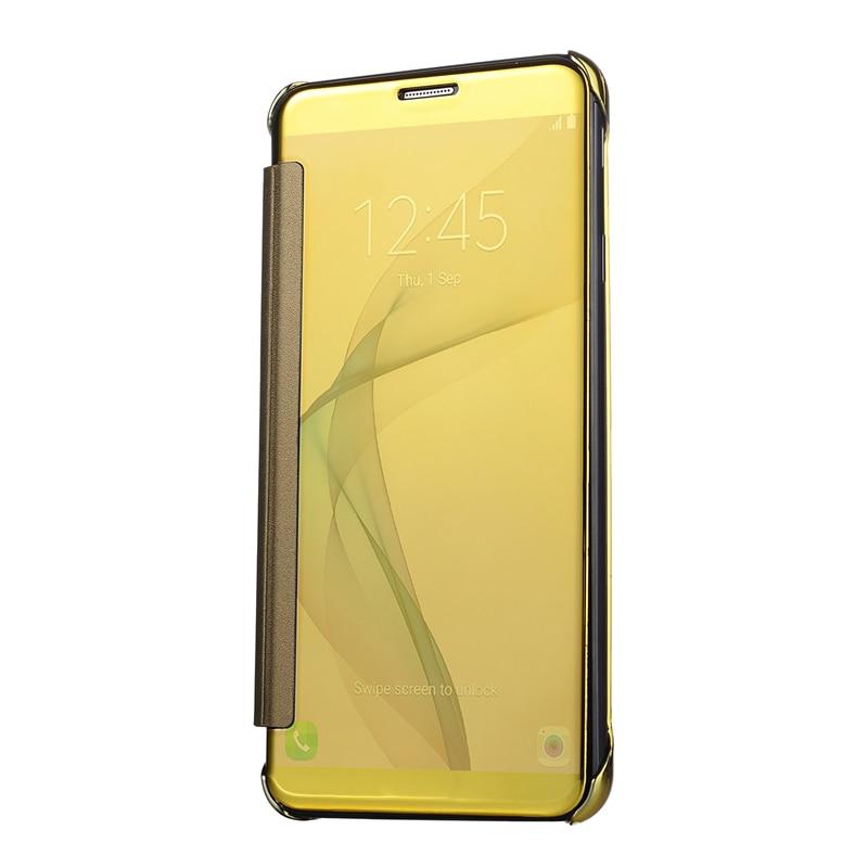 Luxus Vergoldung Spiegel Flip Fall Abdeckung Für Samsung Galaxy A3 A5 2017 A7 A8 A9 Pro 2016 Chrome Abdeckung funda