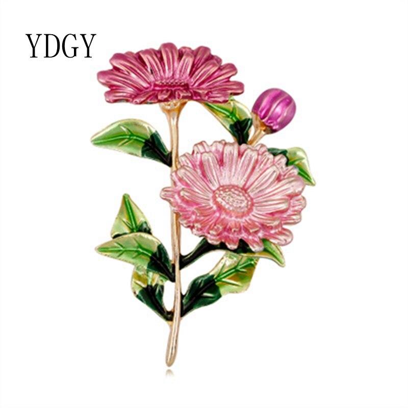 YDGYRosa-ramo de margaritas para Mujeres y Hombres, Broches de mallas, Flores de...