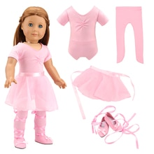 New Fashion Cheap Ballet Dress Our Generation Doll Clothes 43 cm For 18 inch Baby Dolls Dressing gam