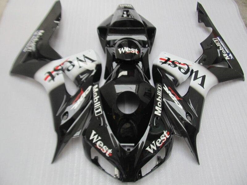 Kit de carenado de moldeo por inyección para Honda CBR1000RR 2006 2007 pegatina del oeste de moto negro carenados CBR 1000RR 06 07 OT35